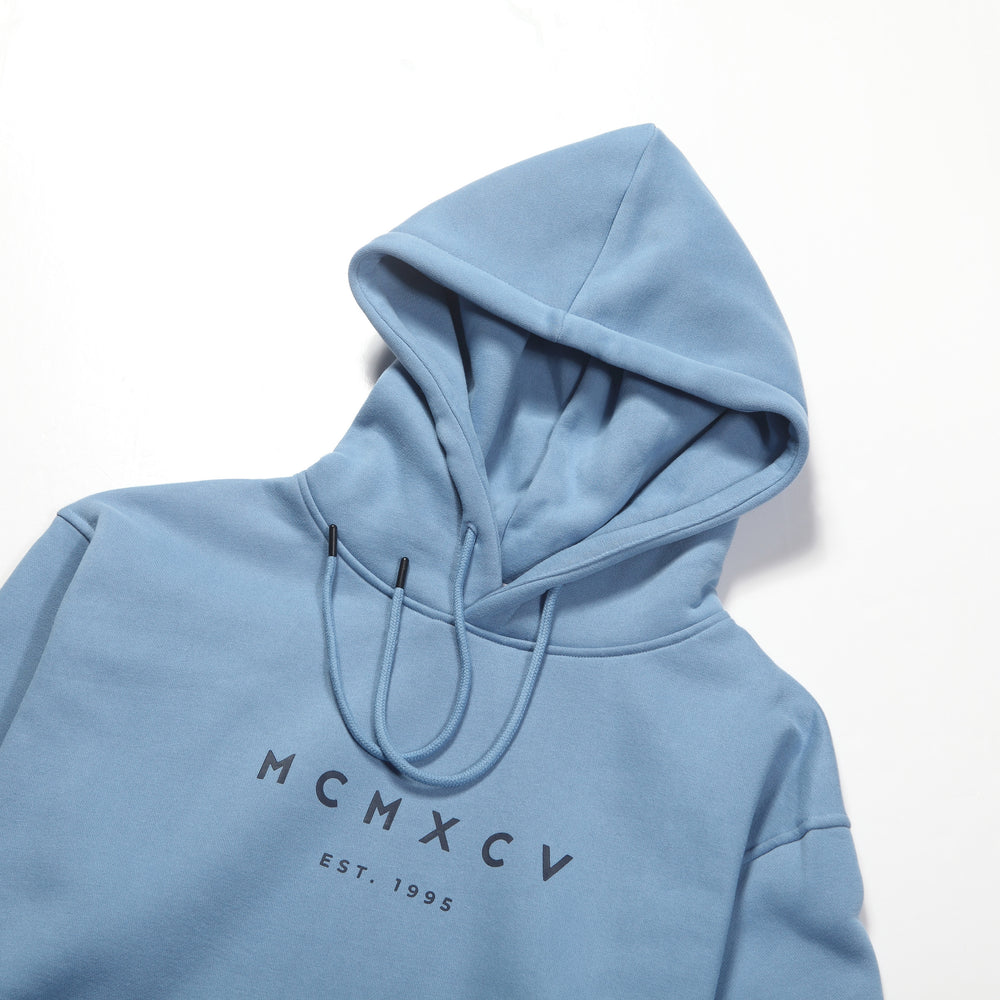 MCM Studio MCMXCV Cotton Fleece Unisex Hoodie Marine Blue