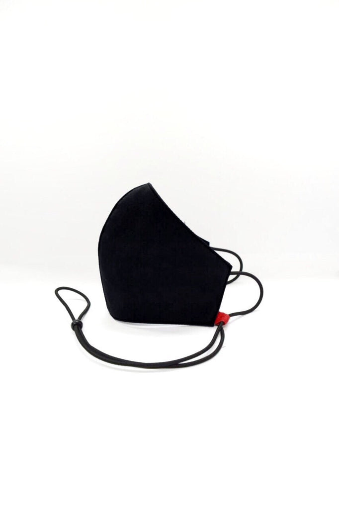 Kids Size Bamboo Reusable Mask Black