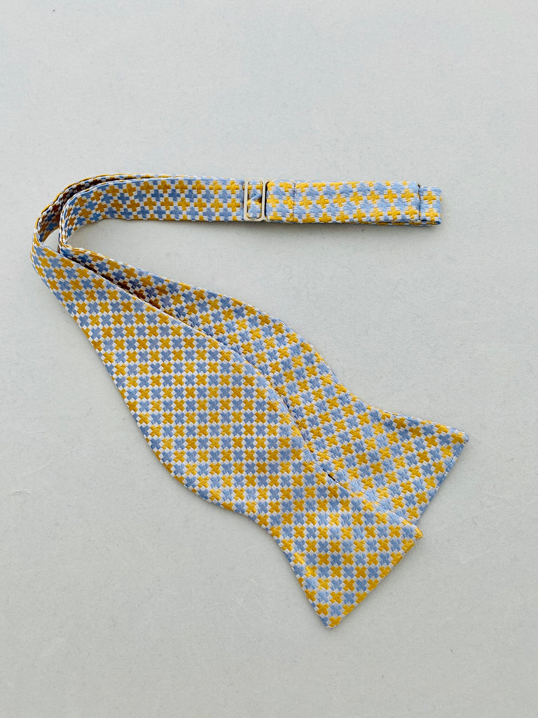 MCM Studio Bow Tie Made In Italy by Fratellini Gold Sky Cross