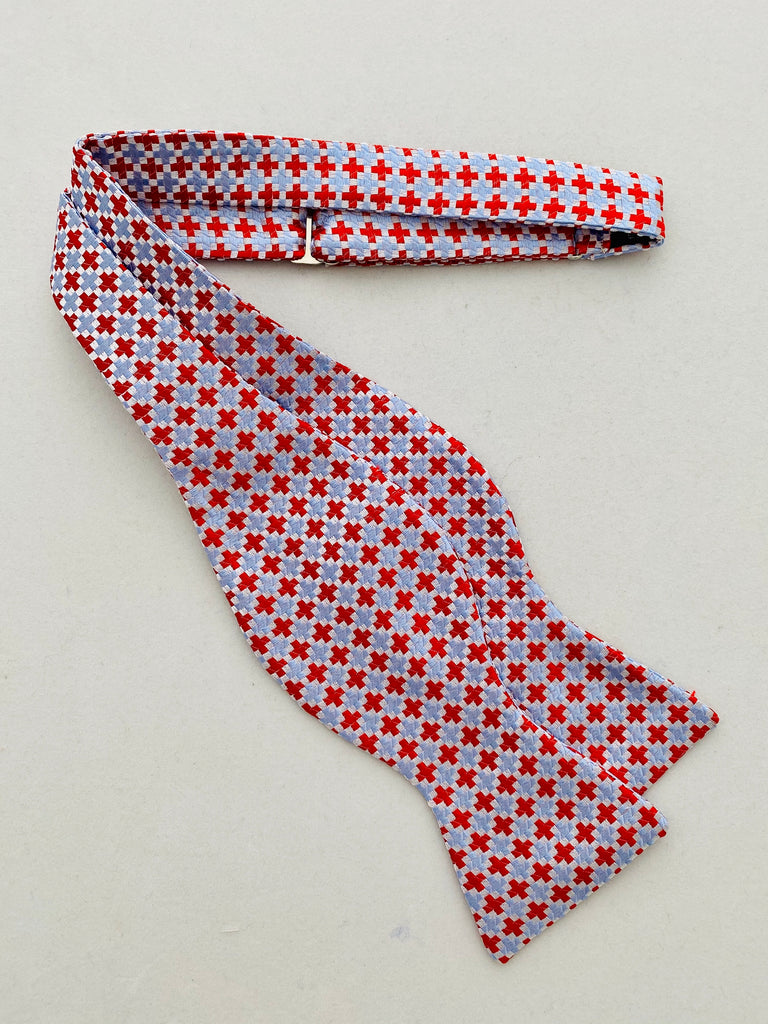 MCM Studio Bow Tie Made In Italy by Fratellini Red Sky Cross