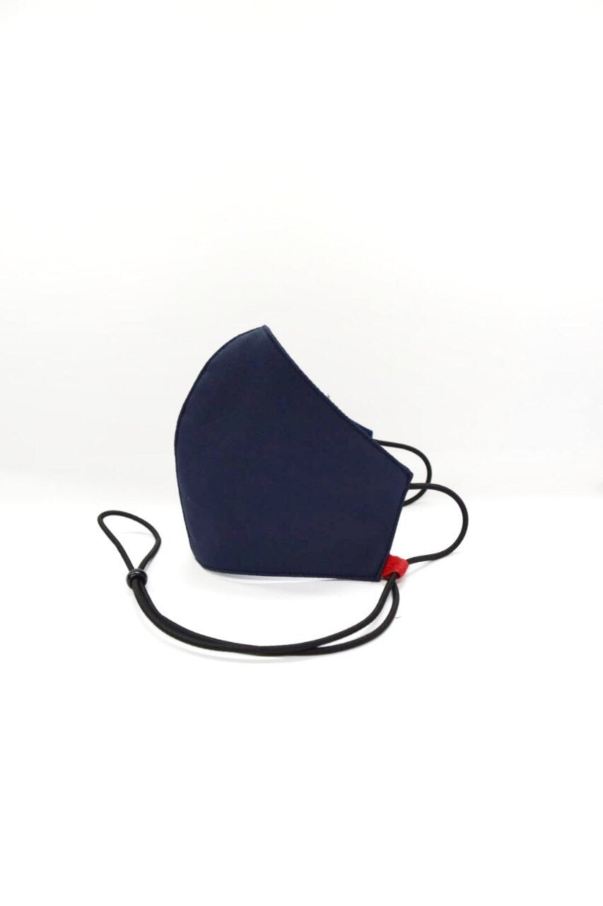 Kids Size Bamboo Reusable Mask French Navy