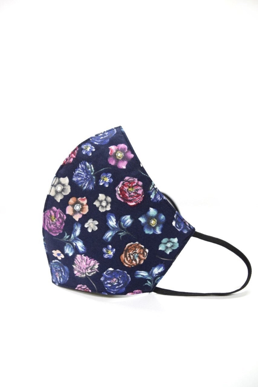 MCM Studio Unisex Three Layer Reusable Face Mask Floral Print