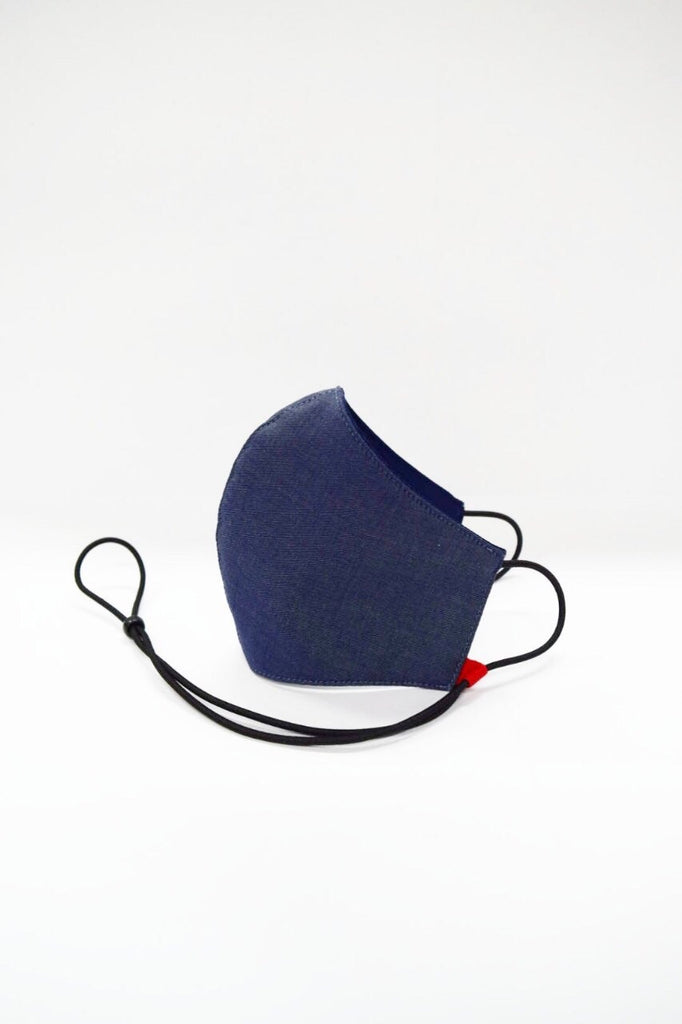 Kids Size Bamboo Reusable Mask Indigo Blue
