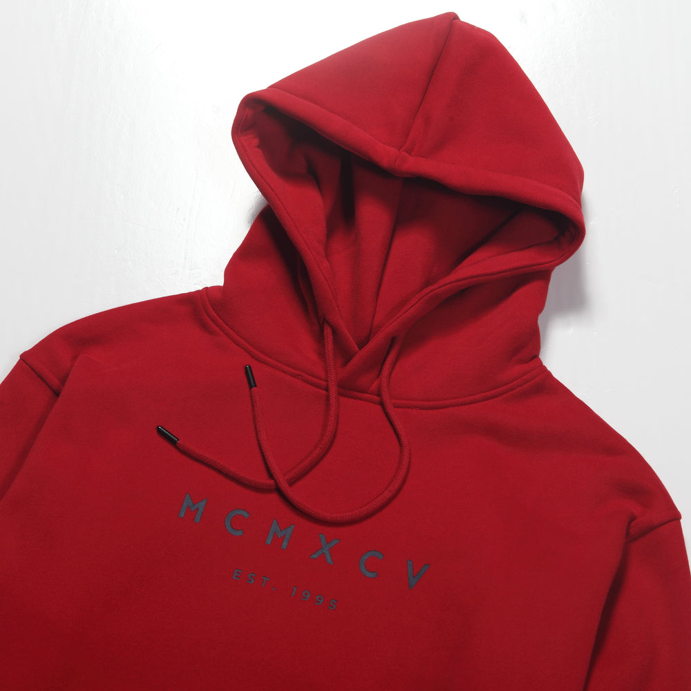 MCM Studio MCMXCV Cotton Fleece Unisex Hoodie Florence Red