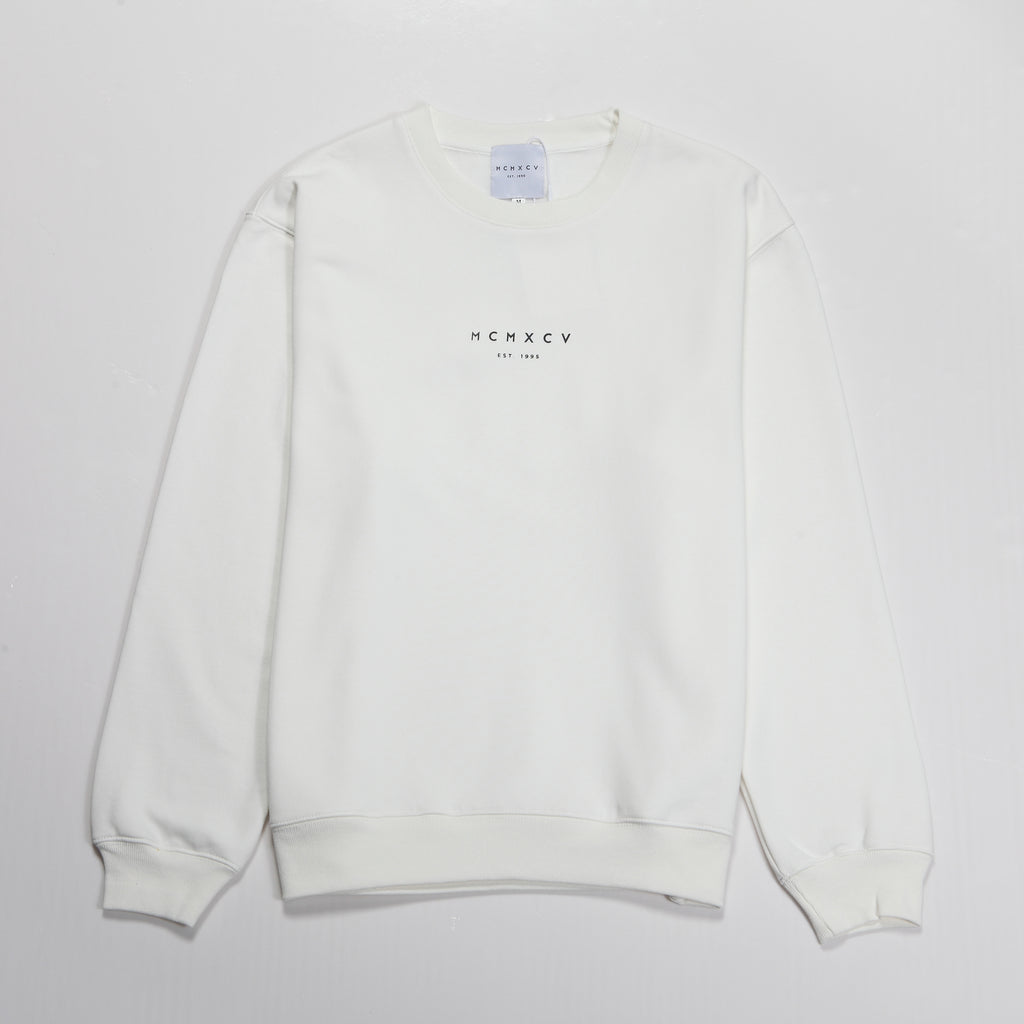 MCM Studio MCMXCV Range Cotton Terry Unisex Oversize Sweater Ice White