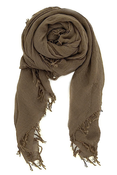 Chan Luu Cashmere Silk Scarf in Walnut Brown