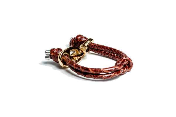 KNOTS SNAKE BROWN GOLD