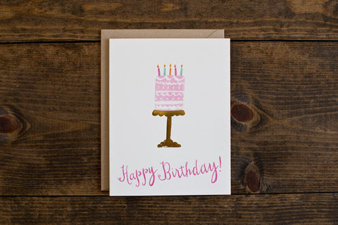 Foil cake birthday card - The Stationery Bakery