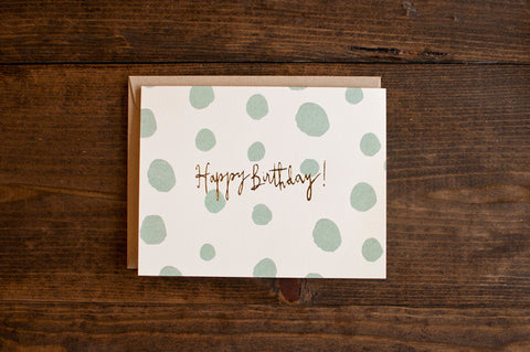 dots birthday - The Stationery Bakery