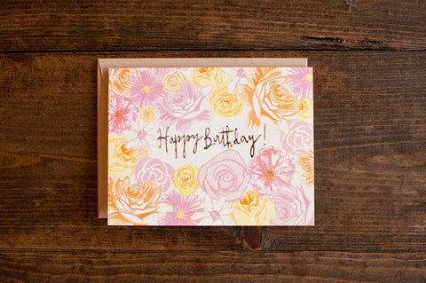 Floral Foil birthday - The Stationery Bakery