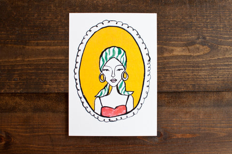 Pretty Lady Print - The Stationery Bakery