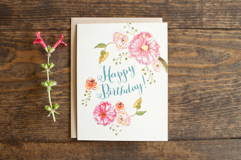Birthday Blooms - The Stationery Bakery