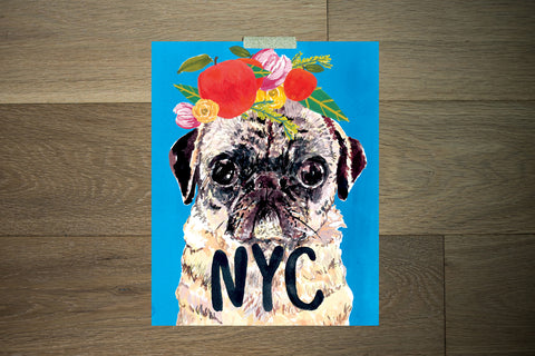 NYC Pug - The Stationery Bakery