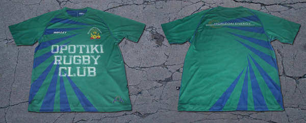 19c4ac783ad Opotiki Rugby Football Club in New Zealand have decided to design and create  some truly unique Training Shirts with the large Opotiki Rugby Club wording  ...