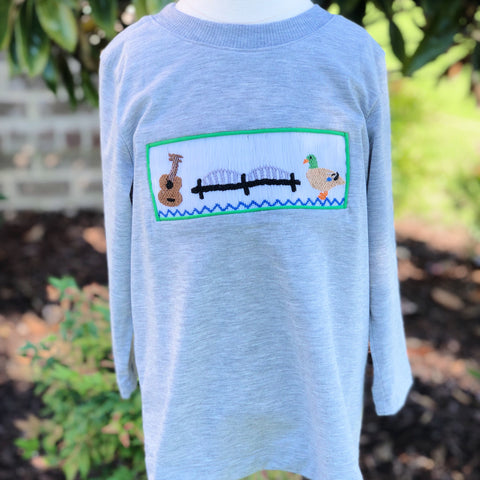 901 Smocked Boys Long Sleeve Shirt