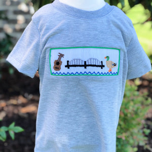 901 Smocked Boys Short Sleeve Shirt