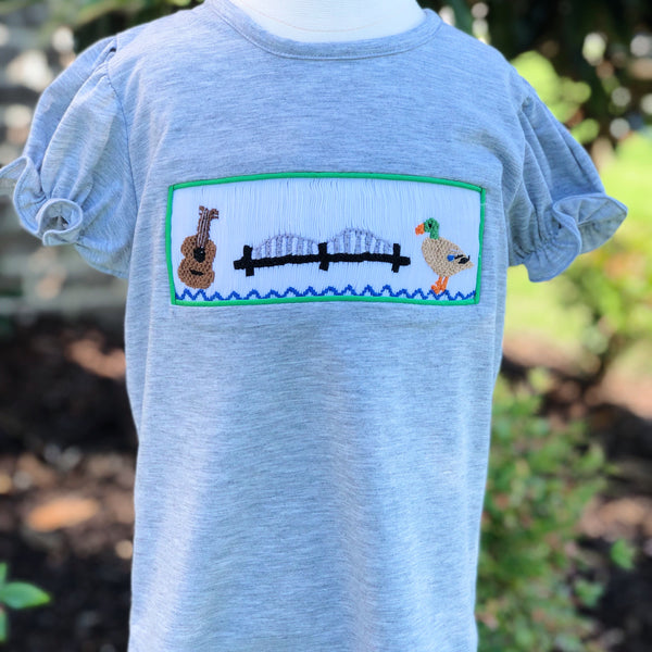 901 Smocked Girls Short Sleeve Shirt