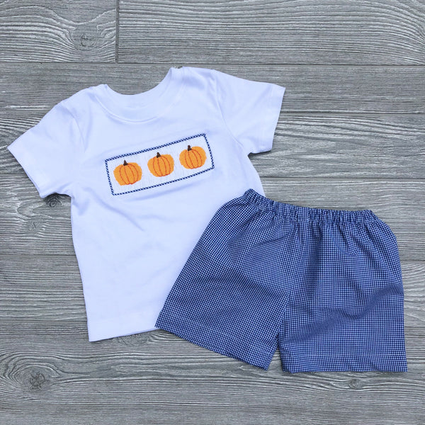 Pumpkin Boys Short Set
