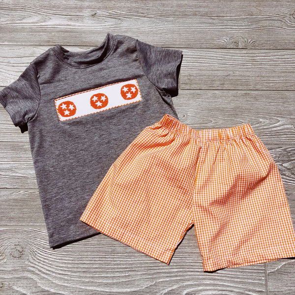 Tristar Smocked Boys Short Set