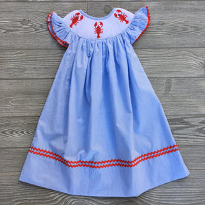 Crawfish Smocked Bishop Dress