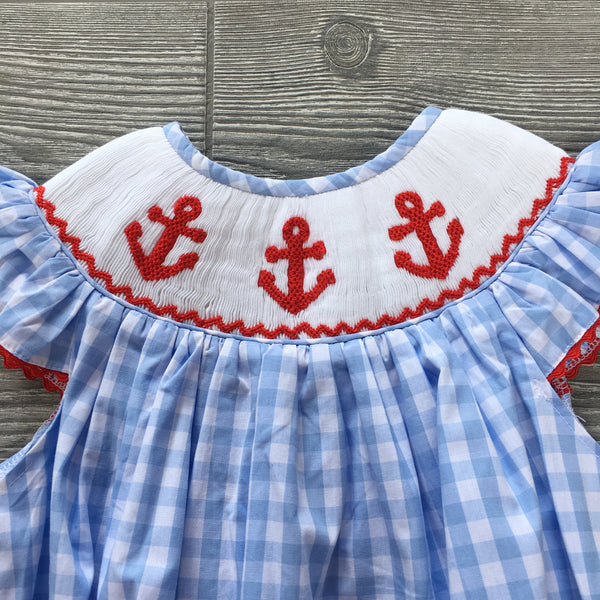 Anchors Aweigh Smocked Girls Bubble