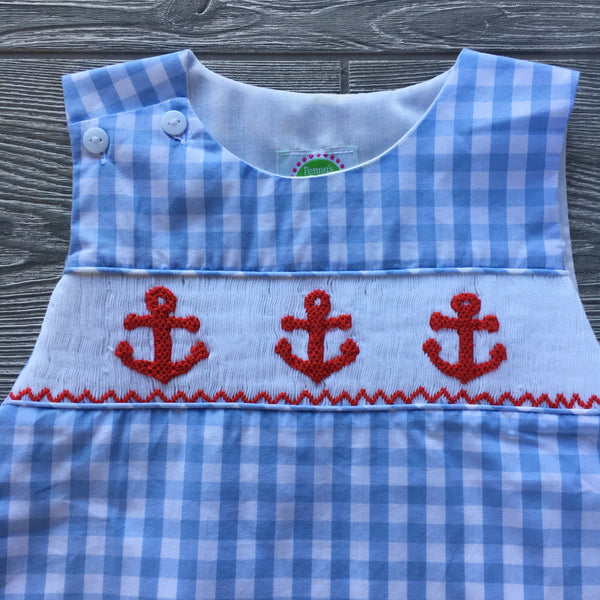 Anchors Aweigh Smocked Diaper Set
