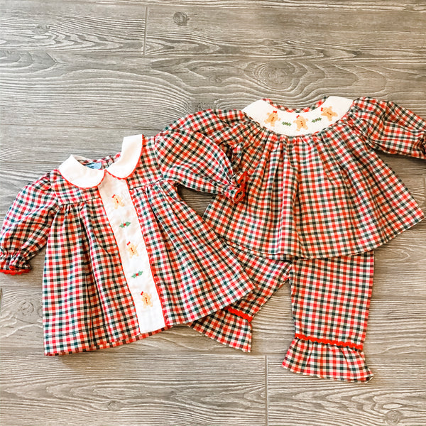 Gingerbread Smocked Dress