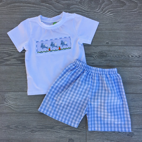 Cottontails Smocked Boys Short Set