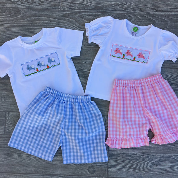 Cottontails Smocked Girls Short Set