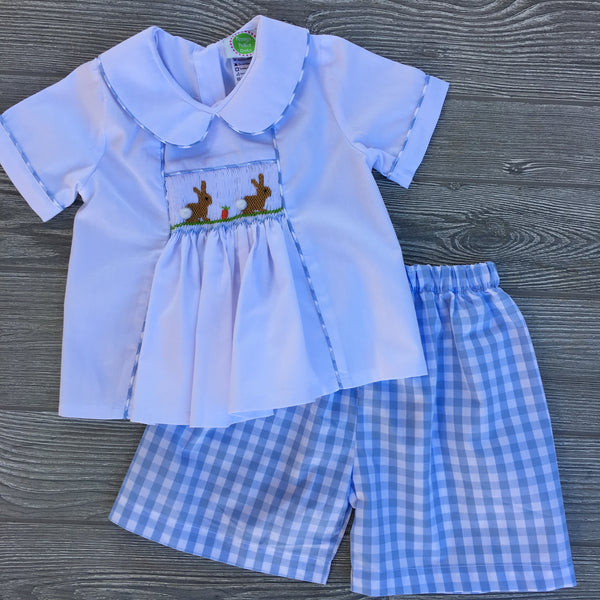 Cottontails Smocked Boys Set