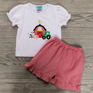 Farm Days Girls Short Set