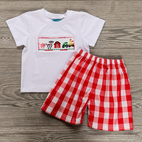 Farm Days Boys Short Set