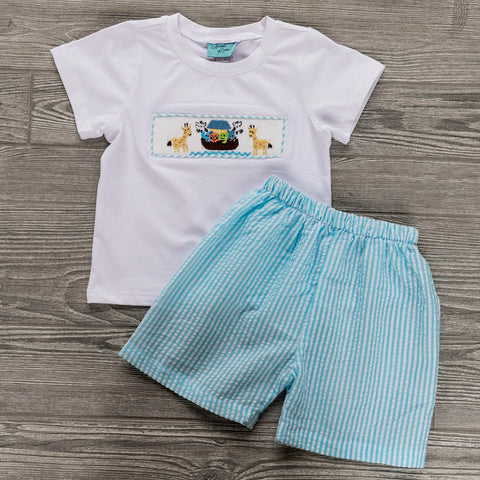 Noah's Ark Boys Short Set