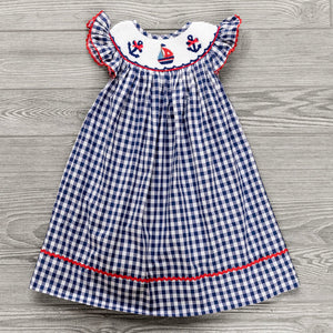 Summer Sailboats Bishop Dress