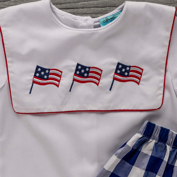 Flag Boys Short Set