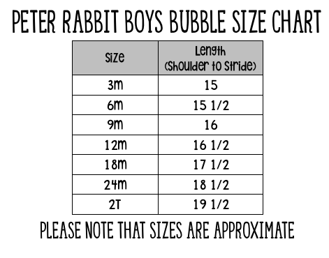 Peter Rabbit Boys Bubble