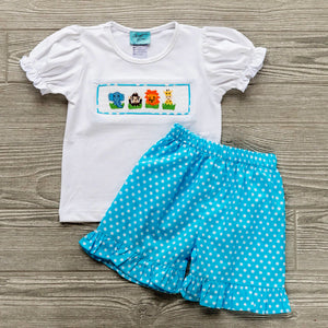 Zoo Friends Girls Short Set