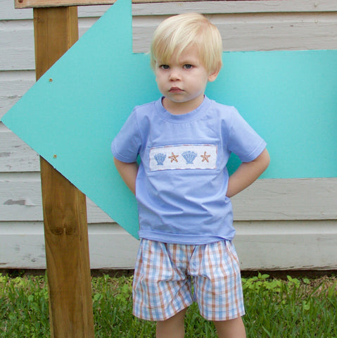 Seaside Smocked Boys Short Set