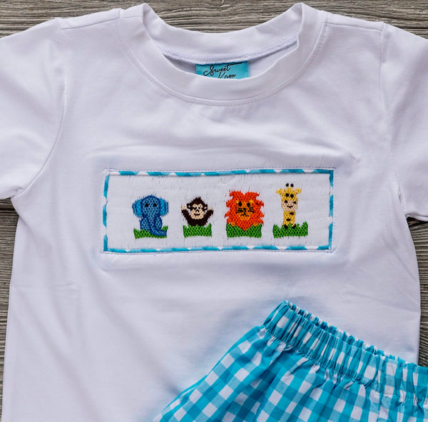 Zoo Friends Boys Short Set