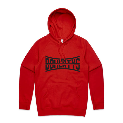 Hoodie - Red Strike-Through