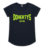 Navy and Neon Women's Dohertys Tee