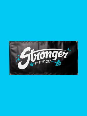 Stronger By The Day Banner