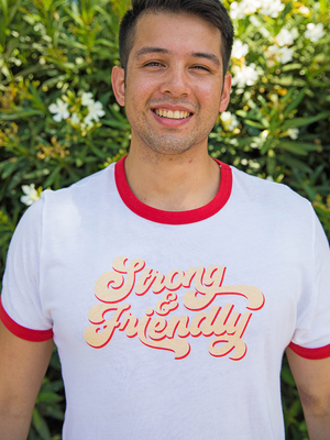 Vintage Friendly Ringer Tee
