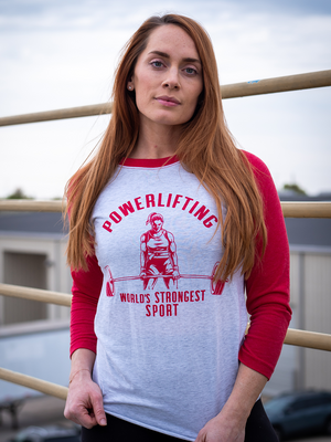 World's Strongest Sport Raglan