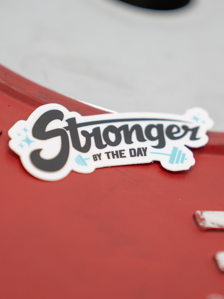 Stronger By The Day Sticker