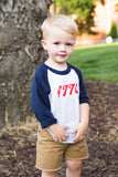 1776 little's baseball tee