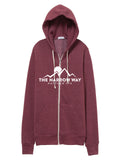 narrow way zip up hoodie