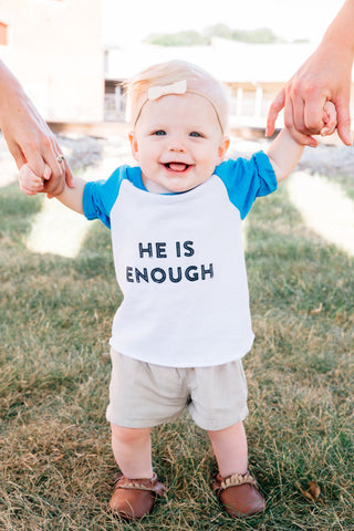 He is enough littles baseball tee