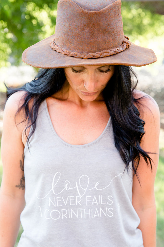 love never fails backstage tank
