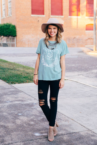 grace & peace rocker tee